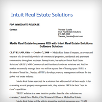 Article: Media Real Estate Improves ROI with Intuit Real Estate Solutions